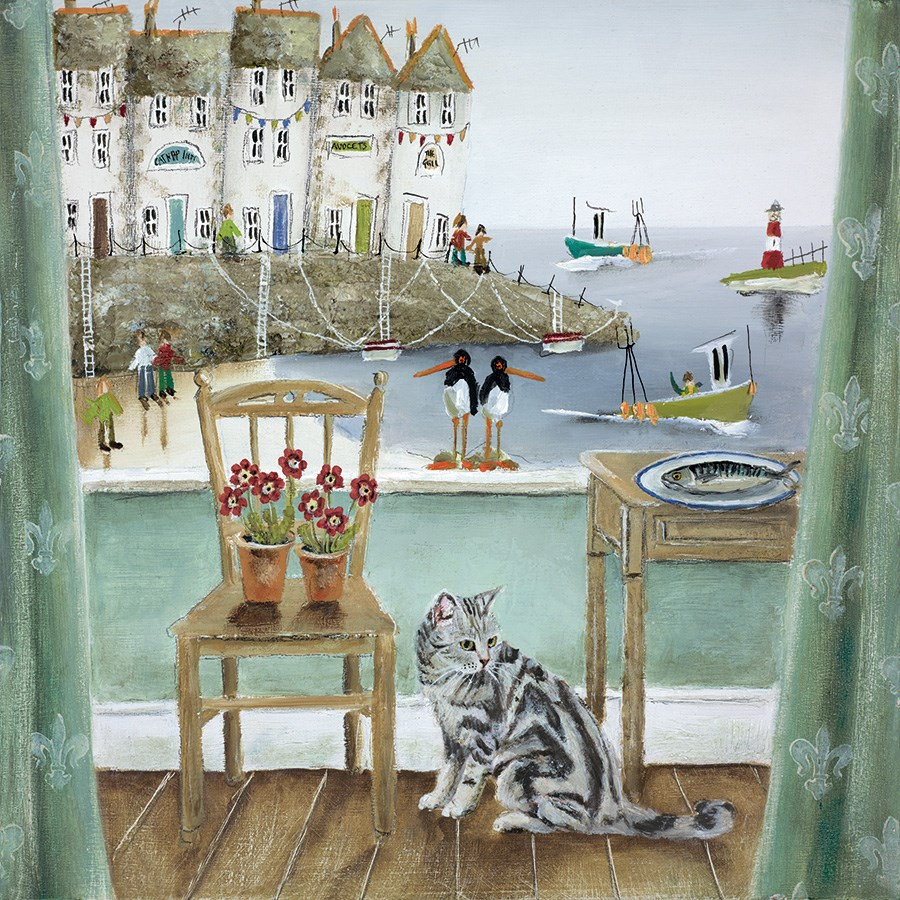 A Fishy Tale by Rebecca Lardner - Limited Edition on Paper sized 12x12 inches. Available from Whitewall Galleries